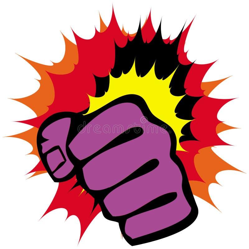 艺术象征拳头军事力量向量 库存例证