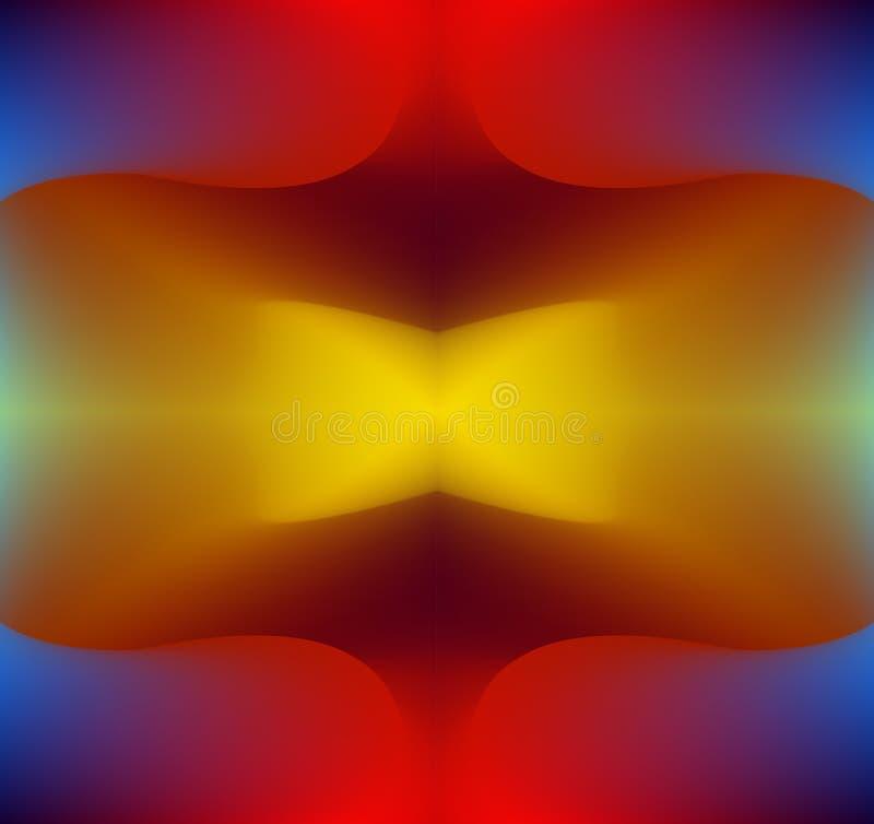 艺术迷离五颜六色的抽象对称传染媒介背景 向量例证