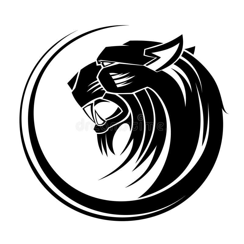 艺术部族狮子的纹身花刺 向量例证