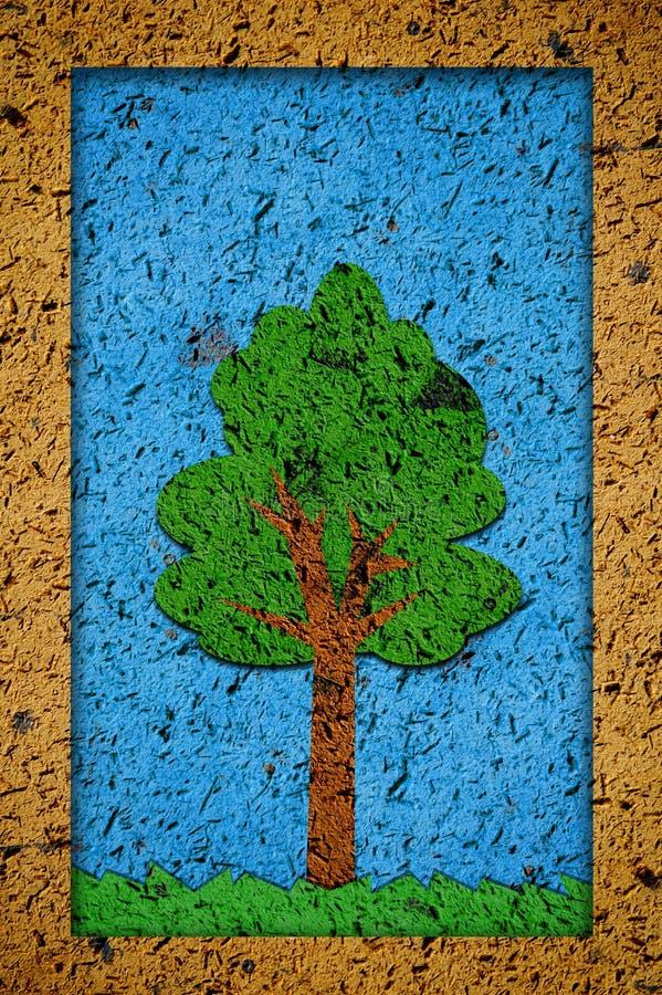 艺术难看的东西树 向量例证