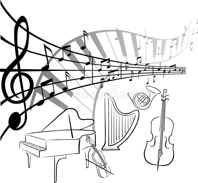 艺术音乐 皇族释放例证