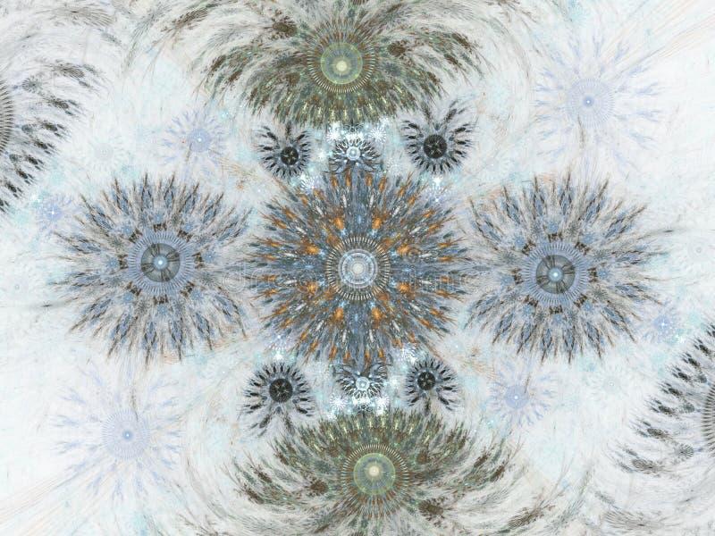艺术项目的抽象花卉分数维背景 库存例证
