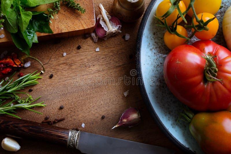艺术食物食谱 免版税库存照片