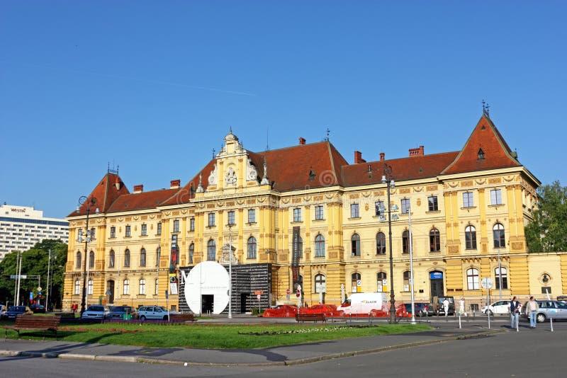艺术馆和工艺,萨格勒布 库存照片