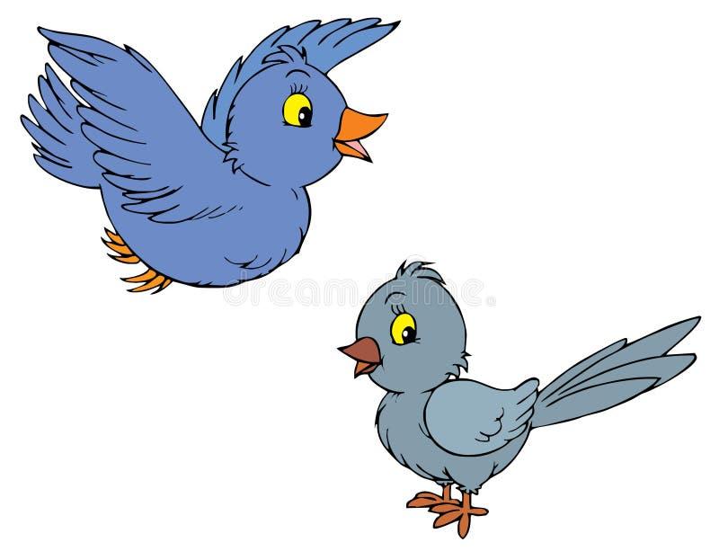 艺术鸟截去向量 库存例证