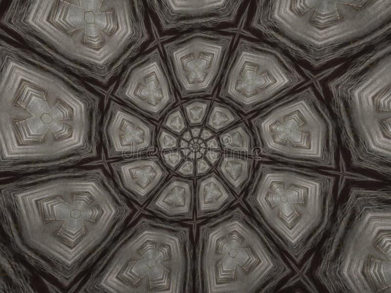 艺术黑色螺旋摘要样式背景 库存例证