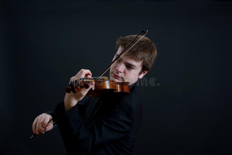 艺术鉴赏家小提琴手使用 库存照片
