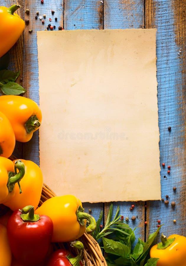 艺术素食食物,健康或烹调概念 免版税图库摄影