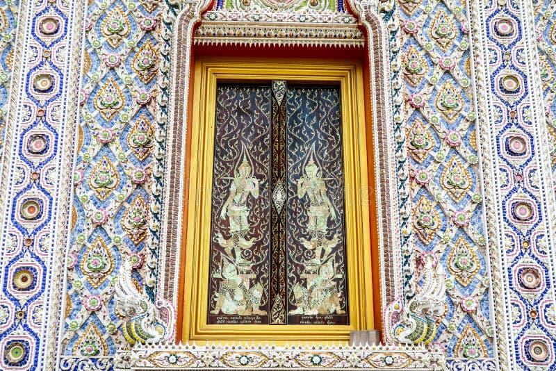 艺术borken内部的马赛克并且装饰在Banglamung寺庙 库存图片