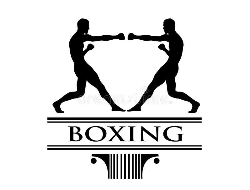艺术boxe夹子徽标比赛 库存例证