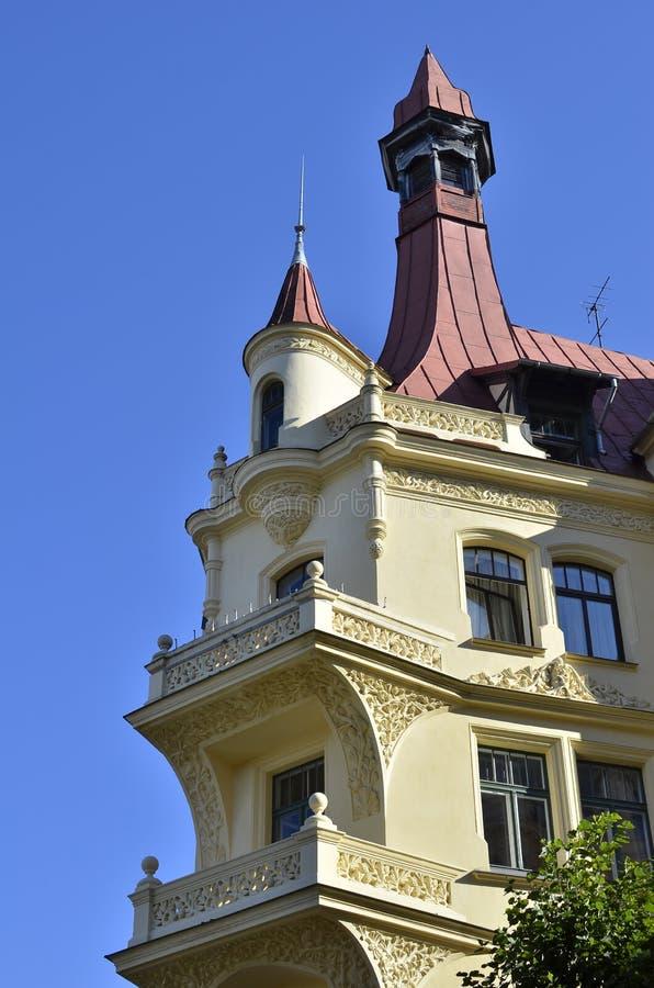 艺术Nouveau公寓里加,拉脱维亚阿尔伯特街道  库存图片