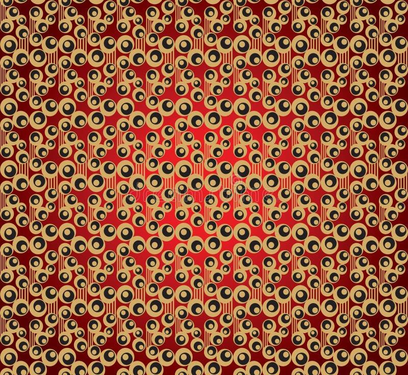 艺术nouveau装饰品无缝的样式 库存例证