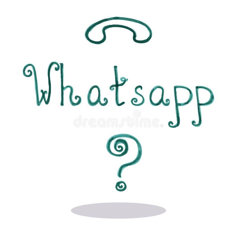 艺术whatsapp传染媒介例证 皇族释放例证