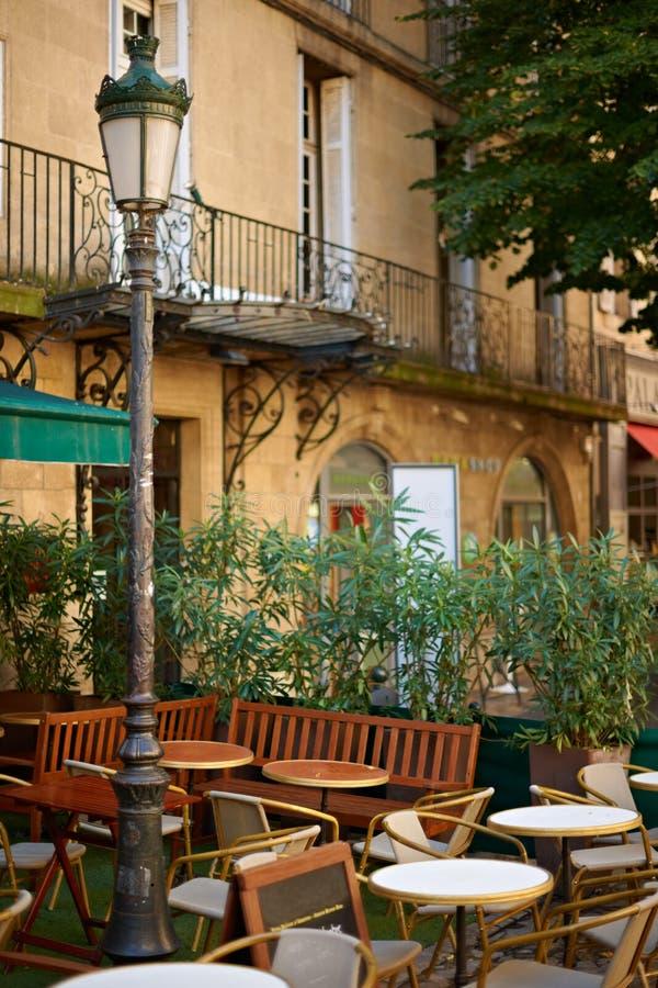 艾克斯普罗旺斯餐馆 免版税图库摄影