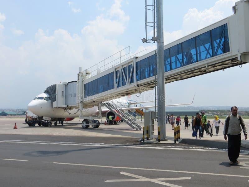 艾哈迈德亚尼机场在三宝垄 免版税库存照片