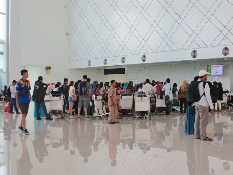 艾哈迈德亚尼机场在三宝垄 免版税图库摄影