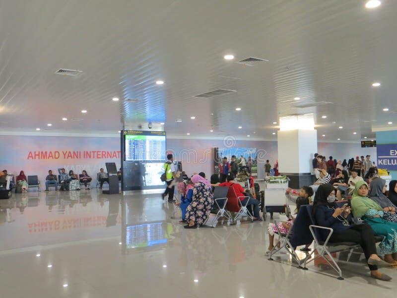 艾哈迈德亚尼机场在三宝垄 库存图片