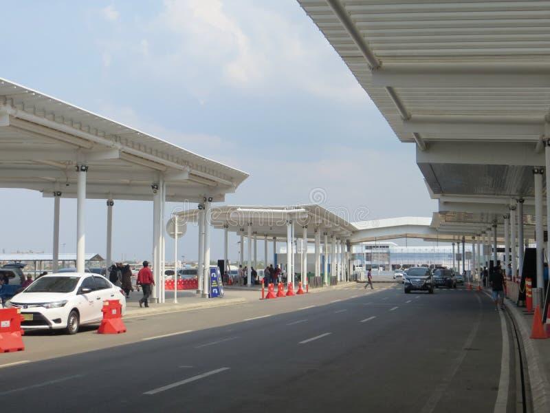 艾哈迈德亚尼机场在三宝垄 免版税库存图片