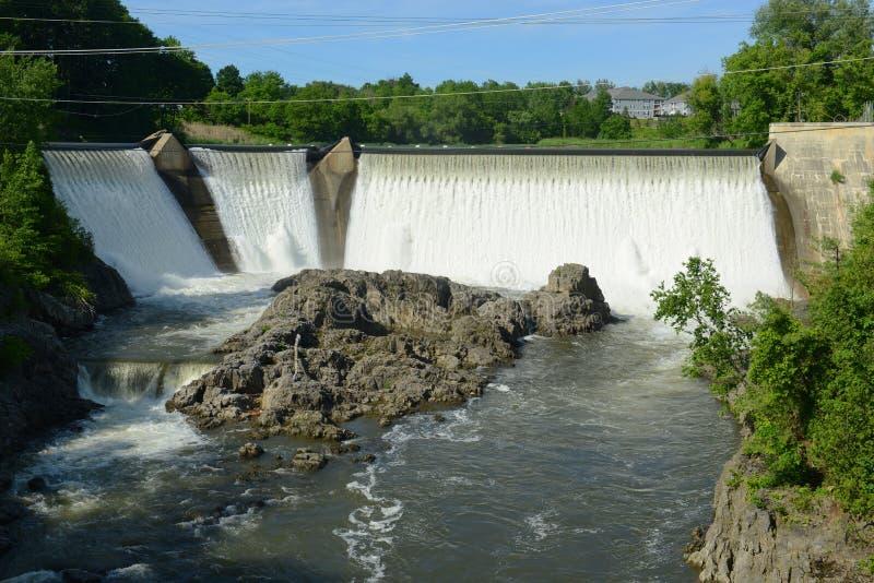 艾塞克斯连接点水坝,佛蒙特,美国 免版税库存图片