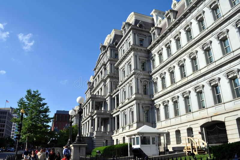 艾森豪威尔在华盛顿特区的行政办公室大厦 库存图片