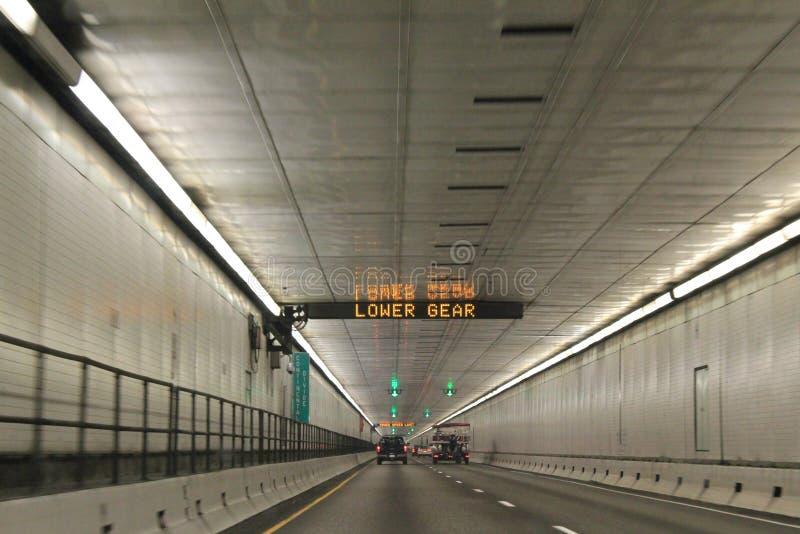 艾森豪威尔隧道在科罗拉多 免版税库存照片