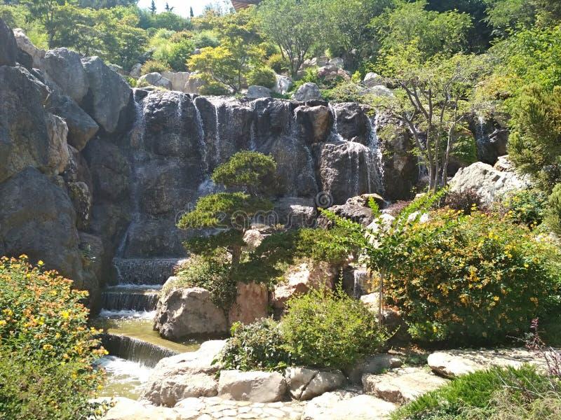 艾瓦佐夫斯基公园在克里米亚 免版税库存照片