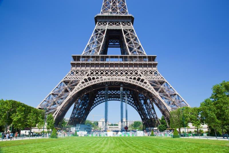 艾菲尔铁塔低部,巴黎,法国 库存照片