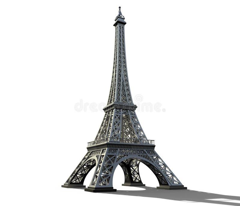 艾菲尔铁塔在白色背景隔绝了 免版税库存照片