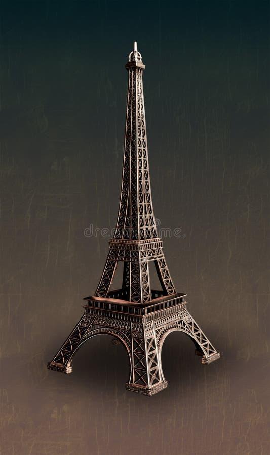 艾菲尔铁塔雕塑 免版税库存图片