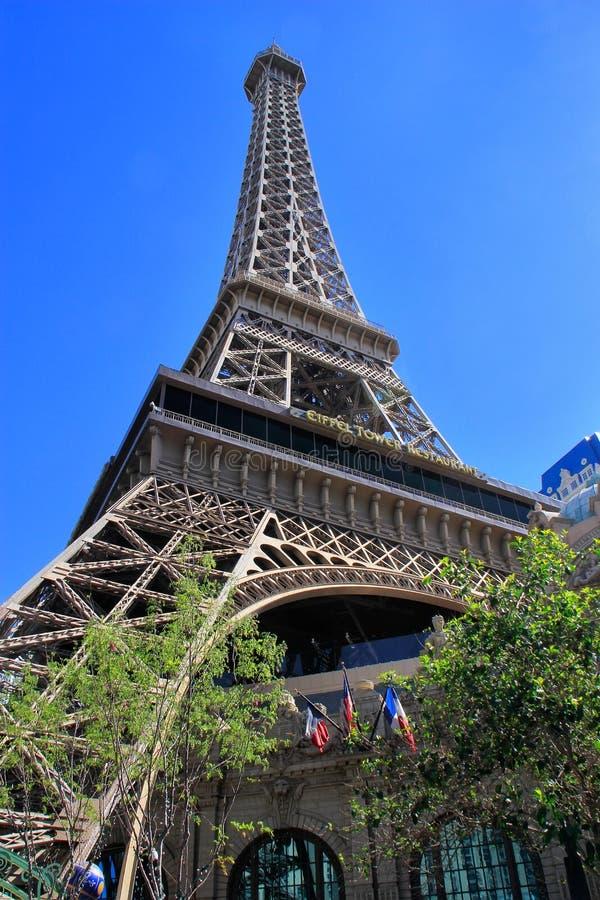 艾菲尔铁塔,巴黎旅馆和赌博娱乐场,拉斯维加斯的复制品, 图库摄影