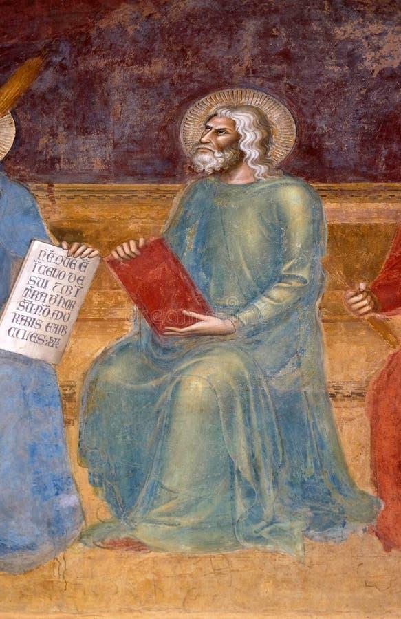艾赛尔,壁画在圣玛丽亚中篇小说教会里在佛罗伦萨 免版税图库摄影