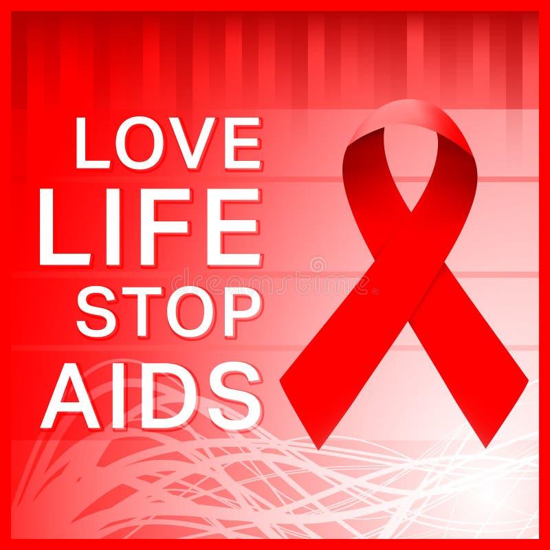 艾滋病丝带海报 库存例证