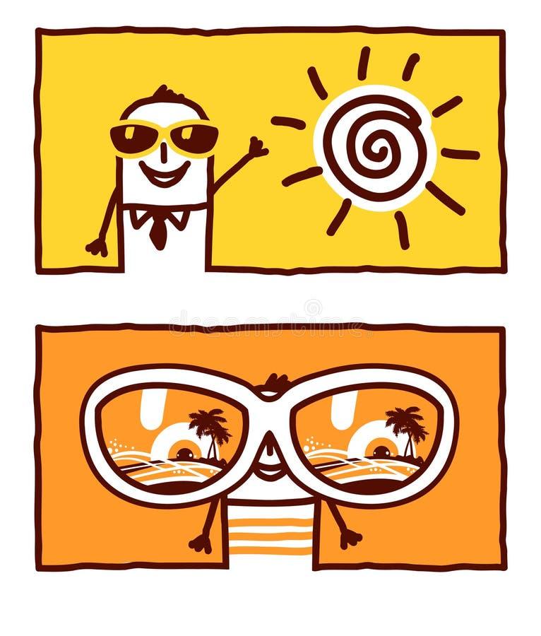 节假日夏天太阳镜 库存例证