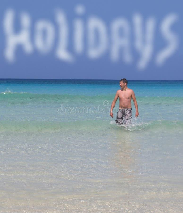 节假日海边 库存照片