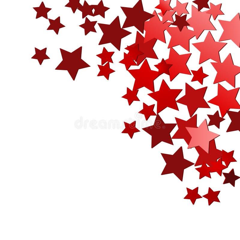 节假日红色星形 皇族释放例证