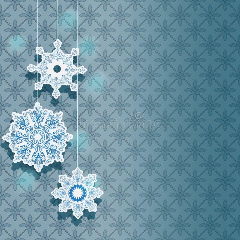 节假日设计的冬天背景 免版税库存图片