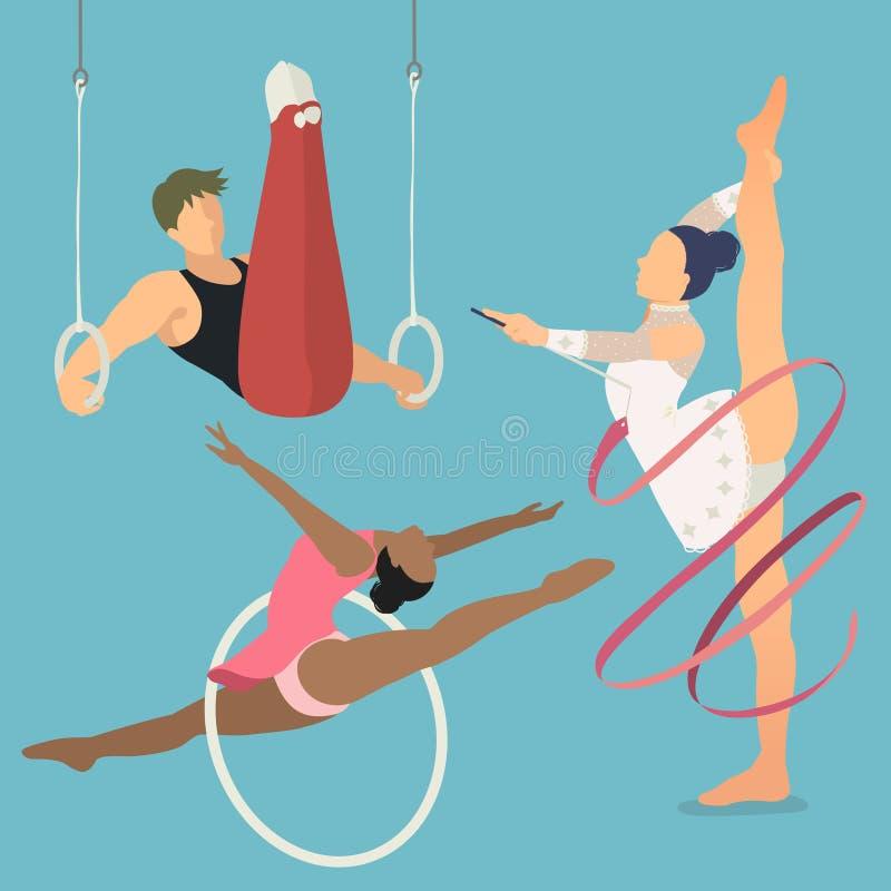 节奏性和艺术性的体操 皇族释放例证