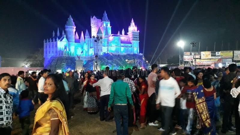 节日在晚上在印度 库存图片