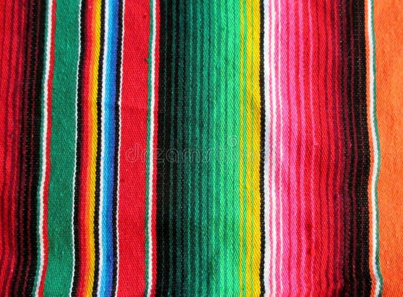 节日墨西哥手织的地毯 图库摄影