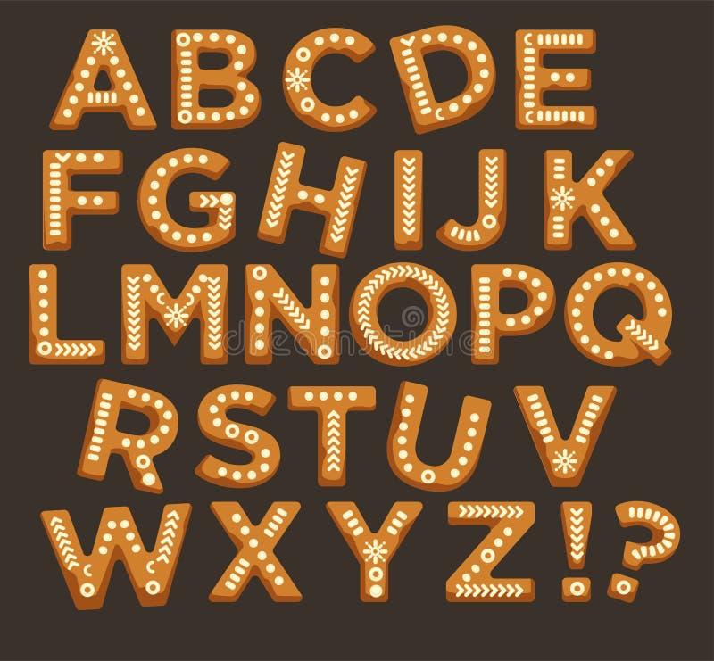 节日快乐,圣诞节abc在字体,图形设计传染媒介上写字 库存例证