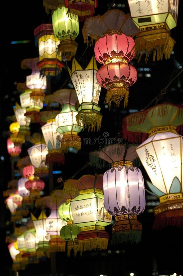 节日灯笼新加坡 免版税库存照片