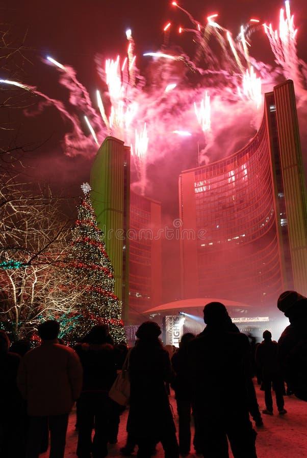 节日点燃多伦多 免版税库存图片