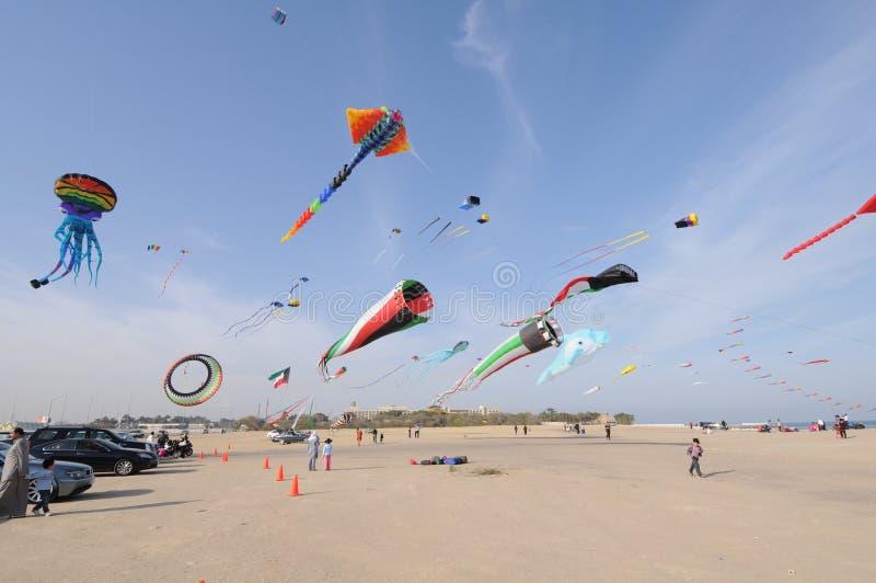 节日风筝在科威特2010年 库存图片