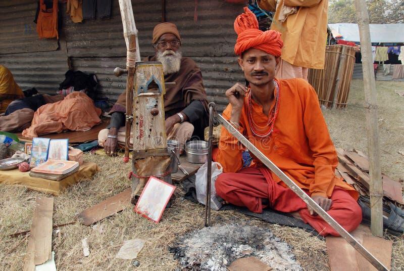 节日ganga sagar的印度 库存照片