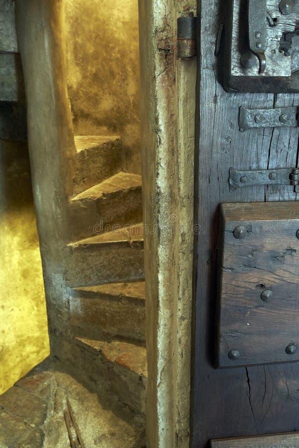 节略一部螺旋形楼梯 免版税库存图片