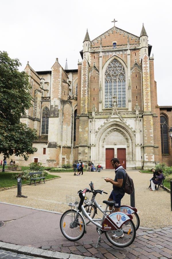 节略在历史名城图卢兹,法国南部 库存照片