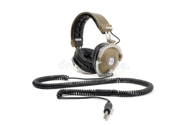 节目播音员耳机 库存图片