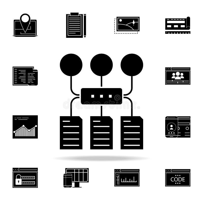 节目算法象 网和机动性的网发展象全集 库存例证