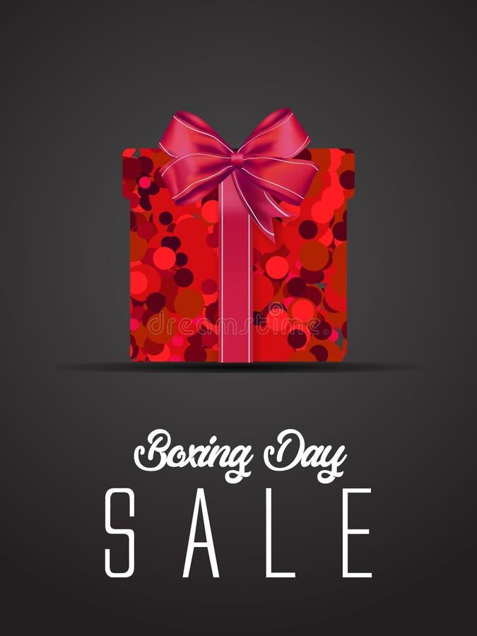 节礼日销售 圣诞节广告剪报面具箱子和eps 10 上色,蓝色、灰色、红色泡影和球 特别海报 库存例证