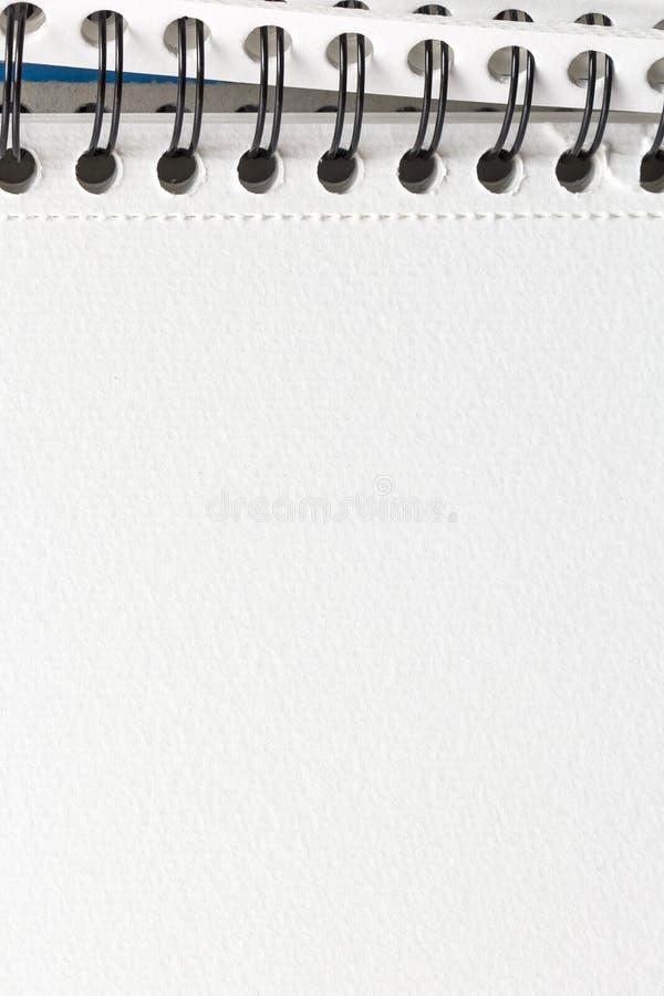 细节螺纹笔记本关闭 库存照片